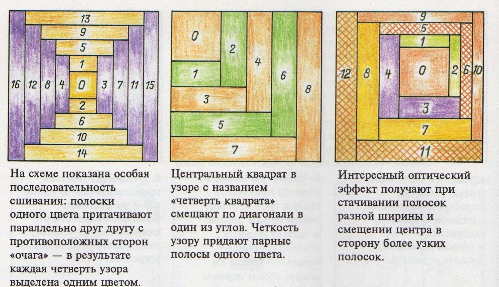 Схемы колодца в лоскутном шитье 168