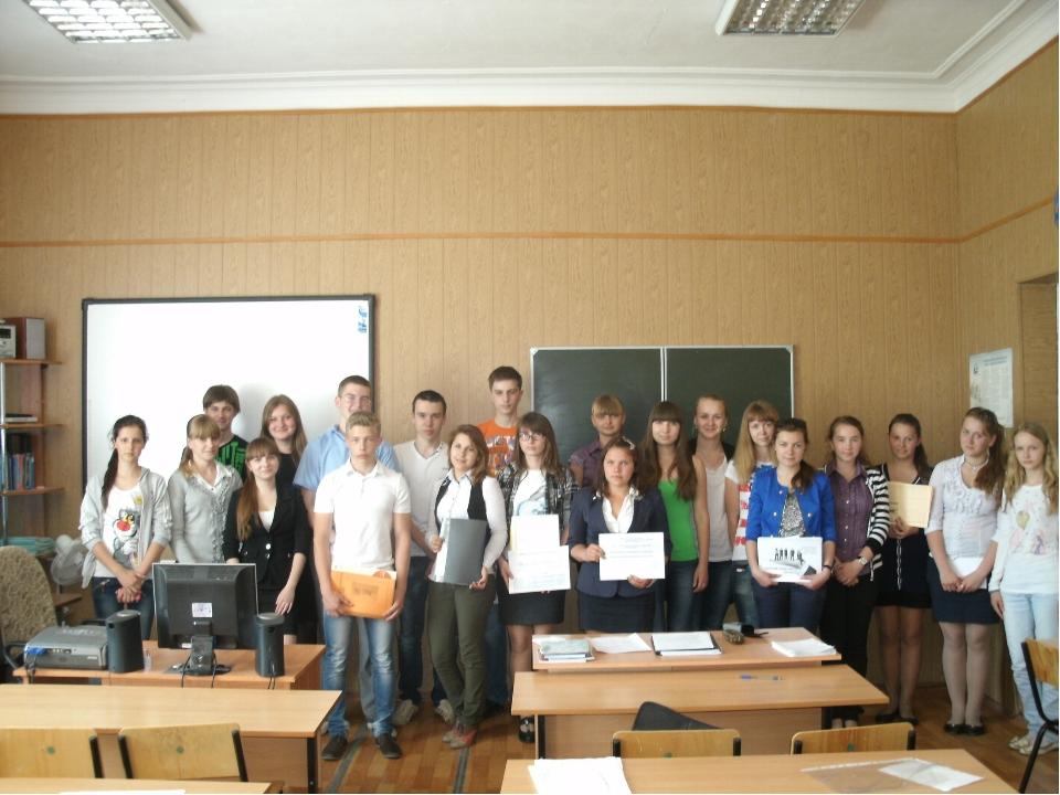 Участники школьной НПК
