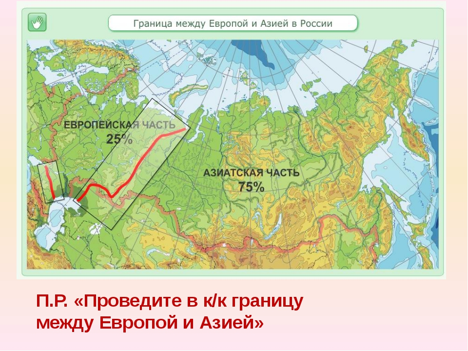 П.Р. «Проведите в к/к границу между Европой и Азией»