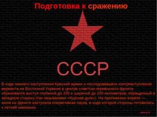 Подготовка к сражению В ходе зимнего наступления Красной армии и последовавше