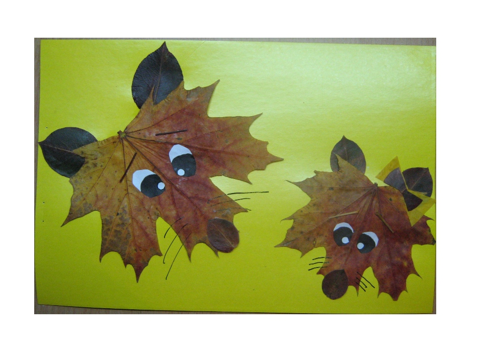 Поделки из листьев во 2 классе