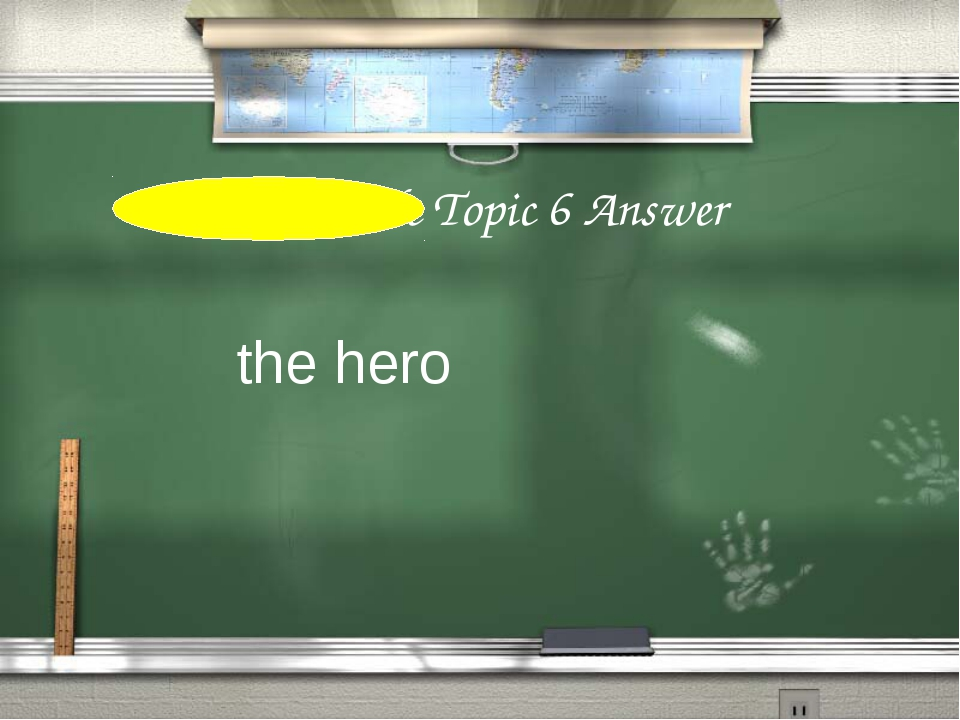 3rd Grade Topic 6 Answer the hero