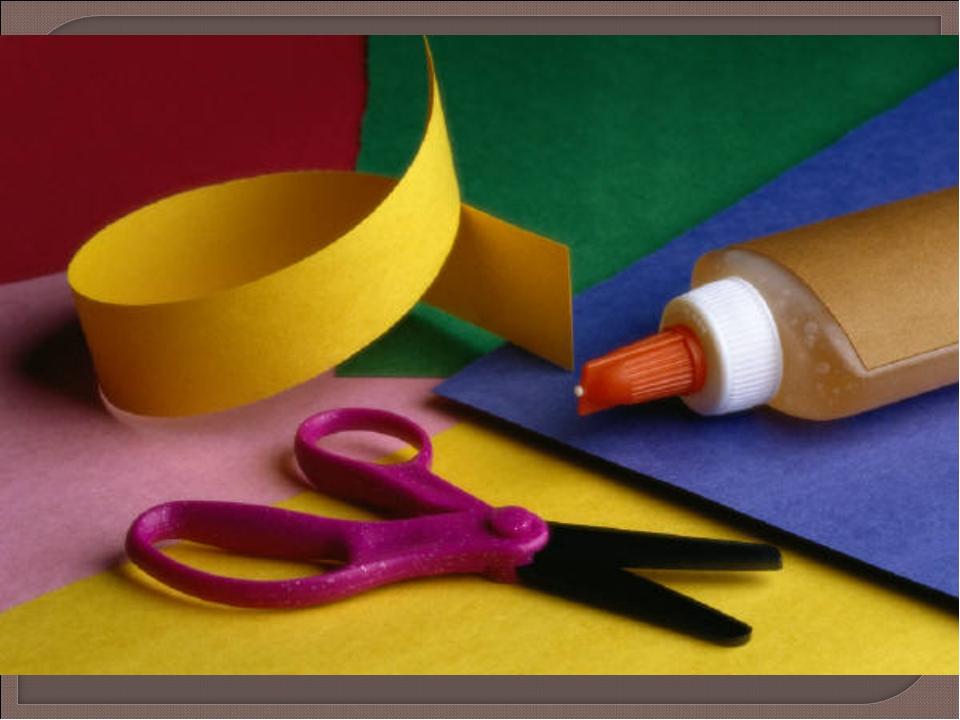 Поделки из бумаги картона ножниц и клея