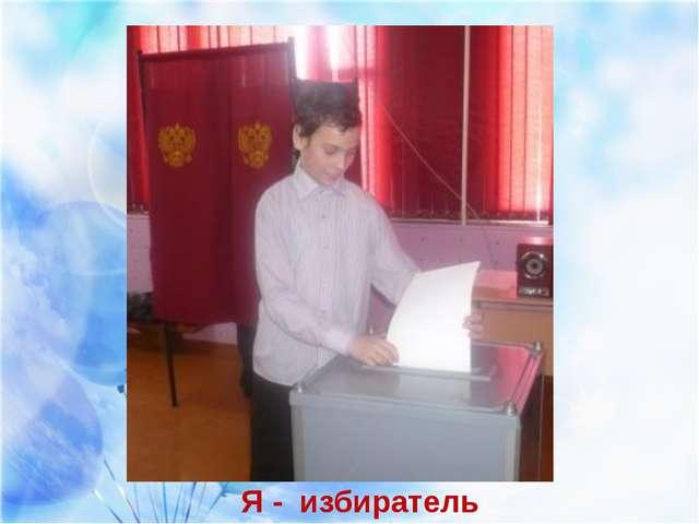 Я - избиратель