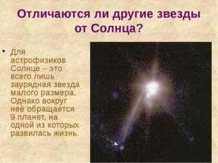 Отличаются ли другие звезды от Солнца? Для астрофизиков Солнце – это всего ли