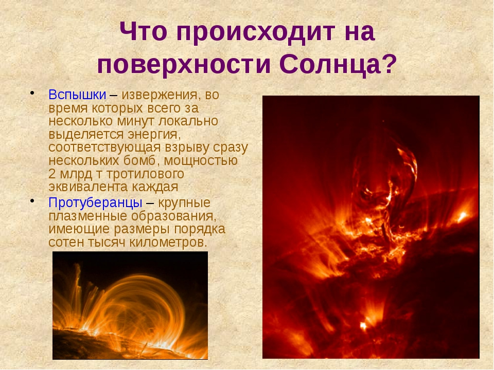 Что происходит на поверхности Солнца? Вспышки – извержения, во время которых...