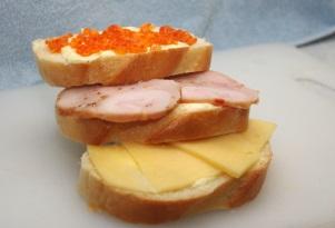 3 бутерброда