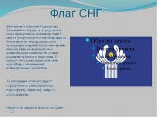 Флаг СНГ Флаг является символом Содружества Независимых Государств и представ