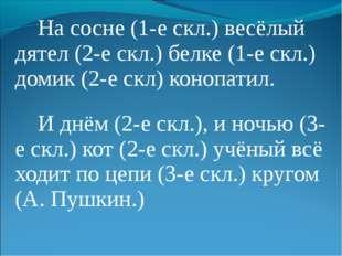 На сосне (1-е скл.) весёлый дятел (2-е скл.) белке (1-е скл.) домик (2-е скл