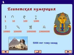 Египетская нумерация 1 10 100 1000 10000 100000 1000000 10000000 5000 лет том
