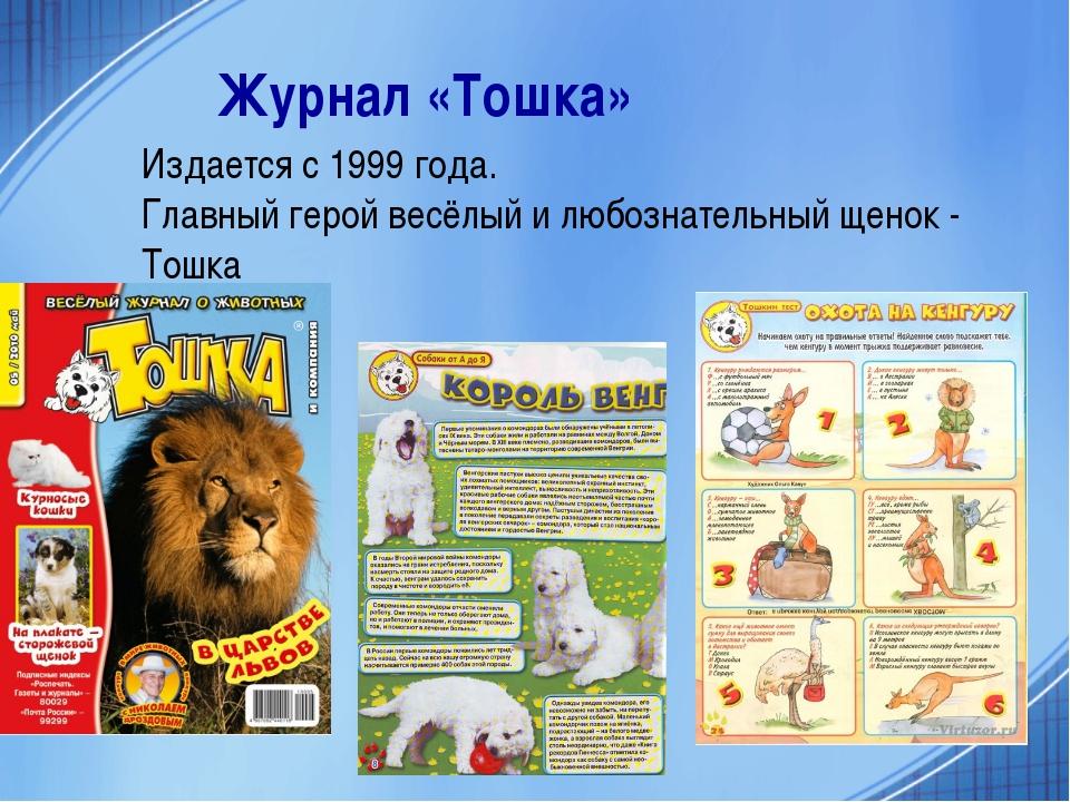 Журнал «Тошка» Издается с 1999 года. Главный герой весёлый и любознательный щ...