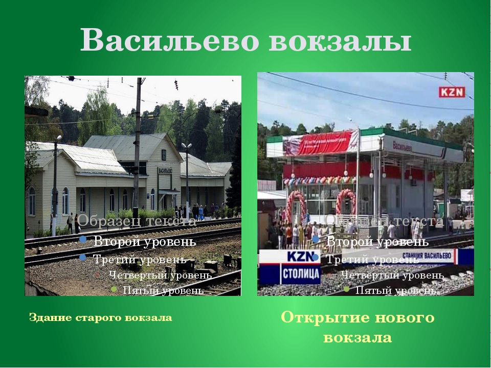 Васильево вокзалы Здание старого вокзала Открытие нового вокзала