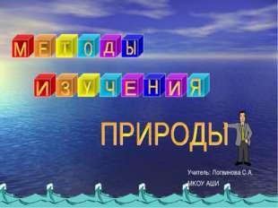 Учитель: Логвинова С.А. МКОУ АШИ
