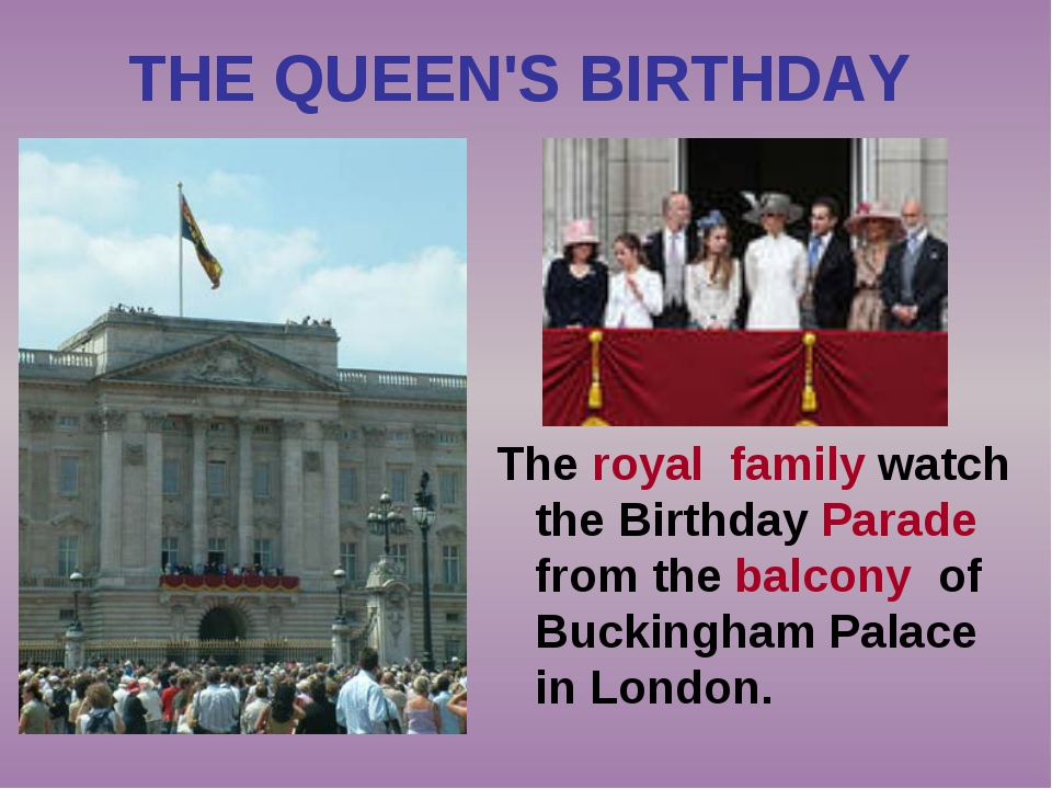 THE QUEEN'S BIRTHDAY The royal family watch the Birthday Parade from the balc...