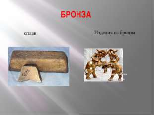 БРОНЗА сплав Изделия из бронзы