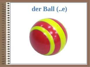der Ball (..e)