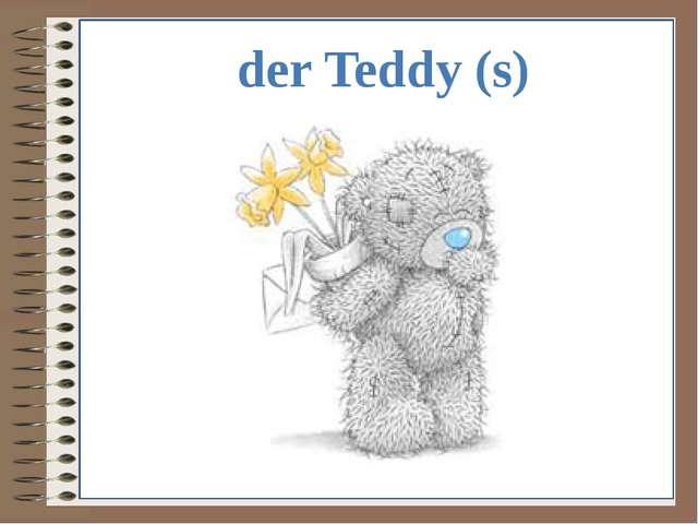 der Teddy (s)