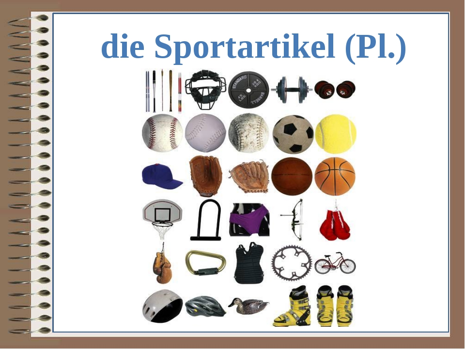 die Sportartikel (Pl.)