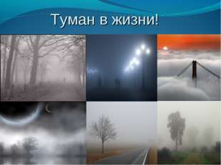 Туман в жизни!