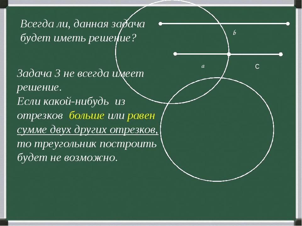 b Всегда ли, данная задача будет иметь решение? Задача 3 не всегда имеет реш...