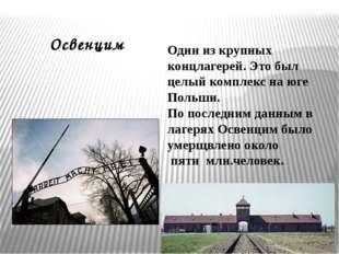 Один из крупных концлагерей. Это был целый комплекс на юге Польши. По последн