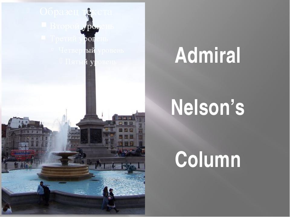 Admiral Nelson's Column
