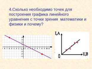 4.Сколько необходимо точек для построения графика линейного уравнения с точк