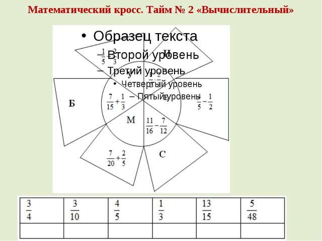 Математический кросс. Тайм № 2 «Вычислительный»