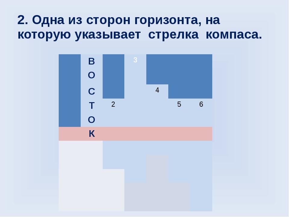 2. Одна из сторон горизонта, на которую указывает стрелка компаса. В 3 О С 4...