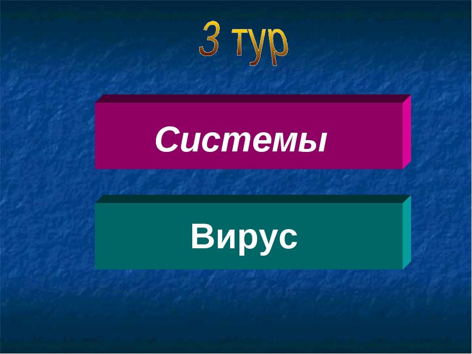 Системы Вирус