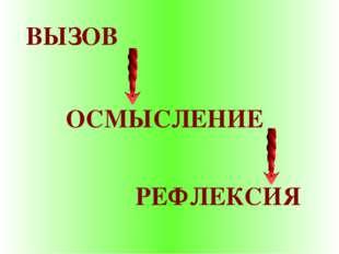 ВЫЗОВ ОСМЫСЛЕНИЕ РЕФЛЕКСИЯ