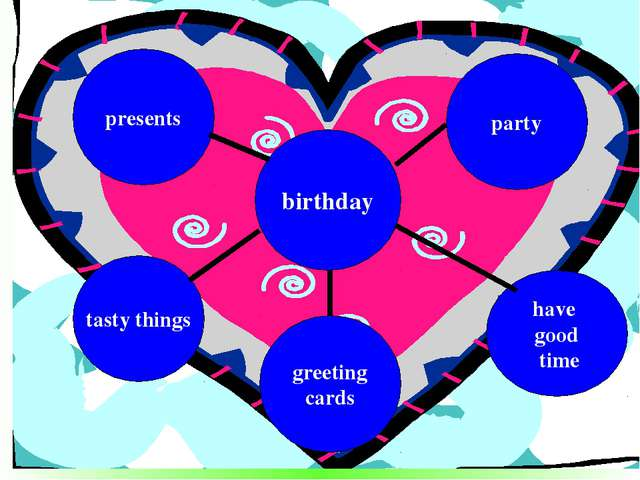 birthday greeting cards tasty things have good time presents party