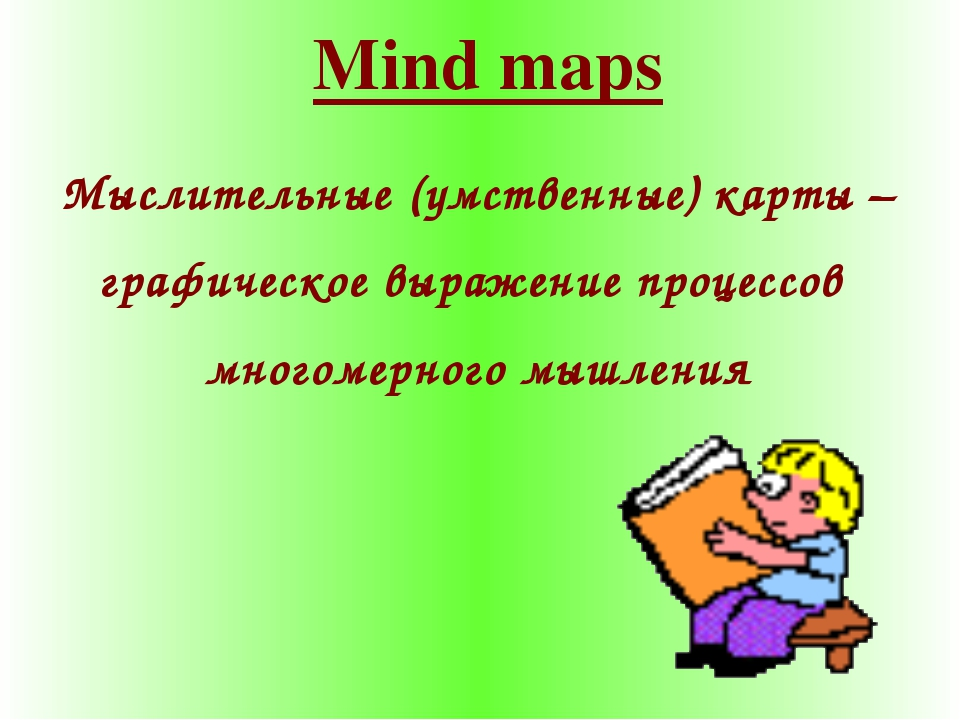 Mind maps Мыслительные (умственные) карты – графическое выражение процессов м...
