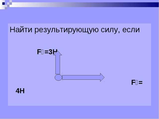 Найти результирующую силу, если F₁=3Н F₂= 4Н