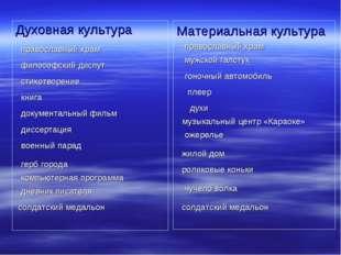 Духовная культура Материальная культура православный храм православный храм ф