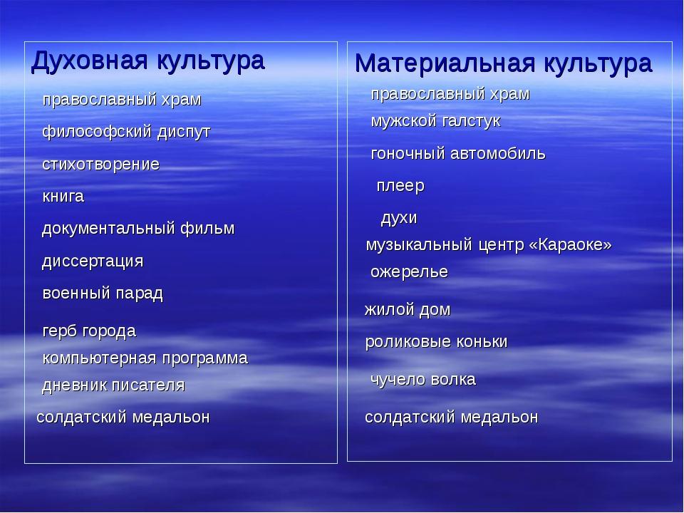 Духовная культура Материальная культура православный храм православный храм ф...