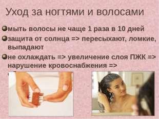 Уход за ногтями и волосами мыть волосы не чаще 1 раза в 10 дней защита от сол