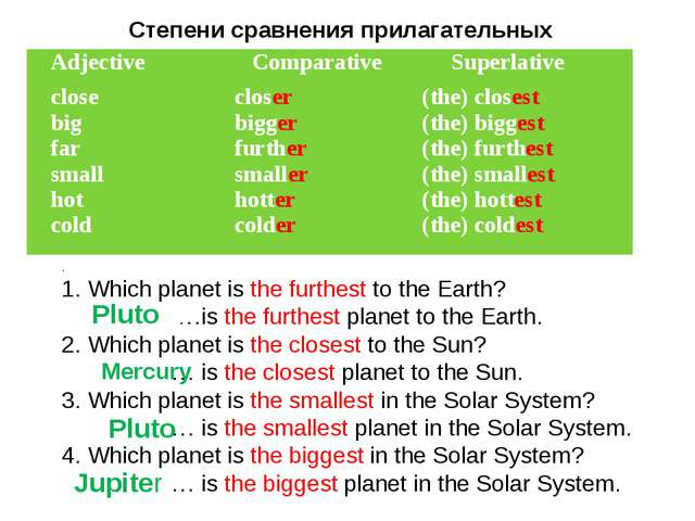 . 1. Which planet is the furthest to the Earth? …is the furthest planet to th...
