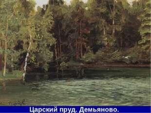 Царский пруд. Демьяново.