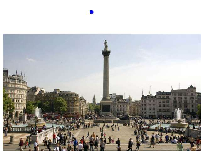 Heart of London is Trafalger Square In the center you see Nelson's Column. T...
