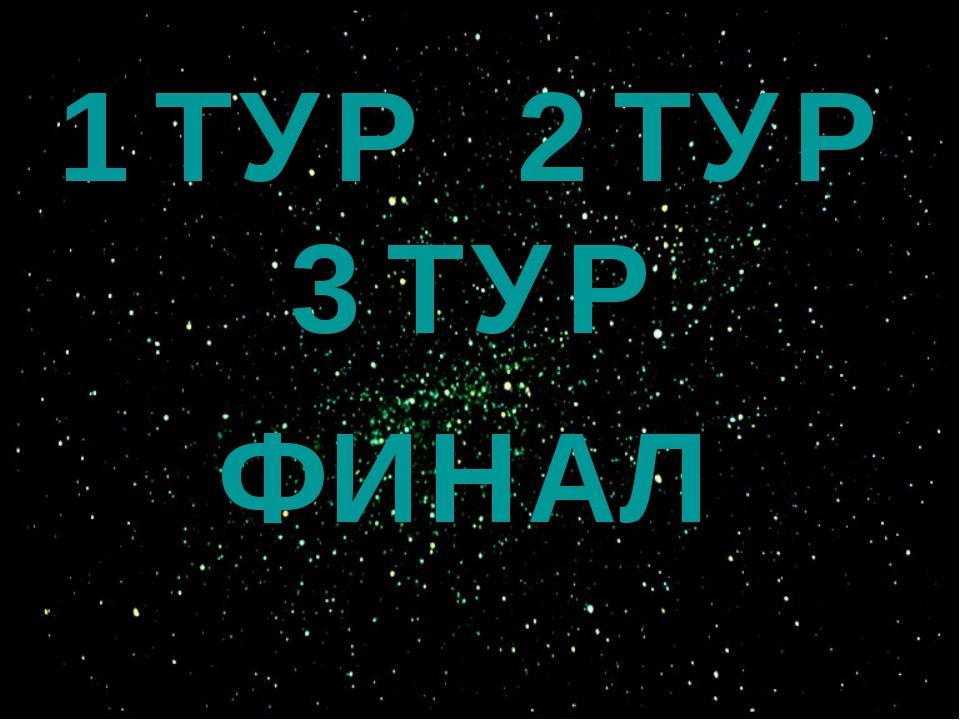 1 ТУР 2 ТУР 3 ТУР ФИНАЛ