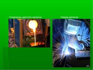 Плавление цветного металла Сварка металла