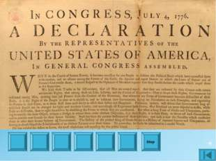 When was The Declaration of Independence signed? Stop 1776