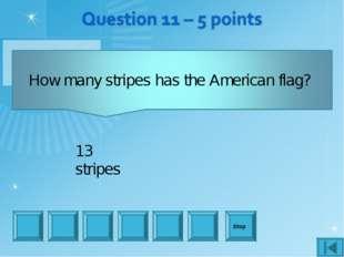 Stop 13 stripes