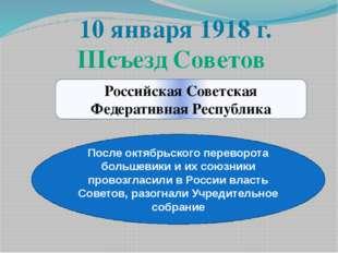 Российская Советская Федеративная Республика После октябрьского переворота бо