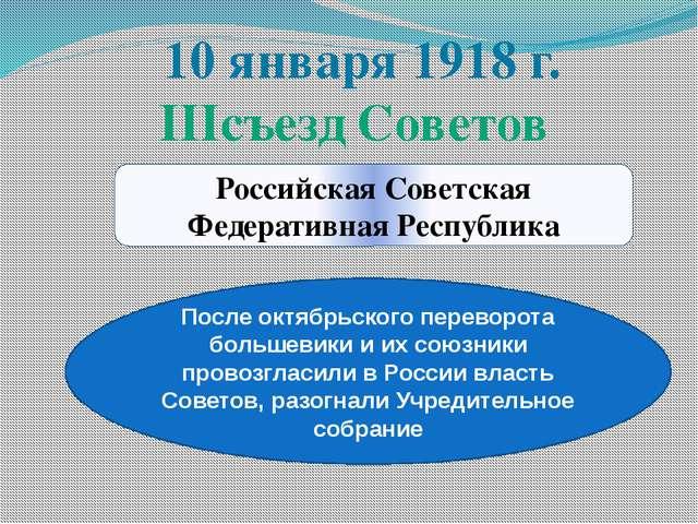 Российская Советская Федеративная Республика После октябрьского переворота бо...