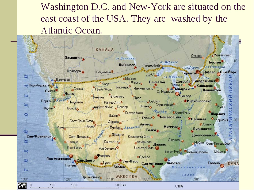 Washington D.C. and New-York are situated on the east coast of the USA. They...