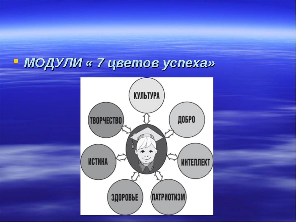 МОДУЛИ « 7 цветов успеха»