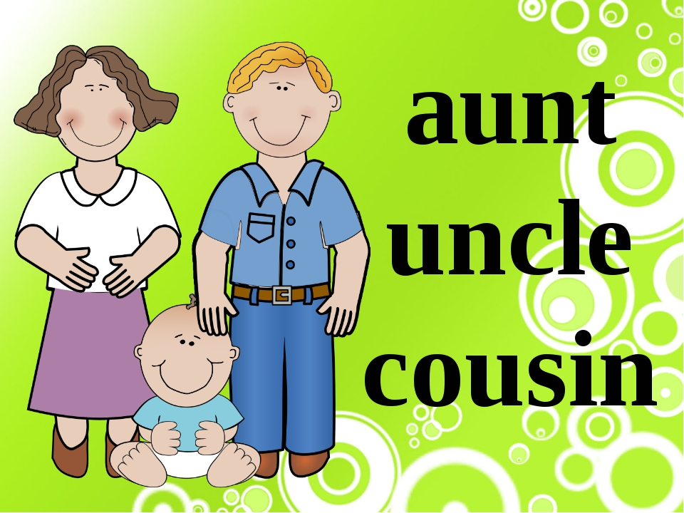 family and uncles aunts cousins Best answer: i think people see having aunts, uncles and cousins as the 'normal' family and that all couples decide to have more than one child so in their minds it's just natural to see, ask or hear about a child's aunt, uncle or cousins.