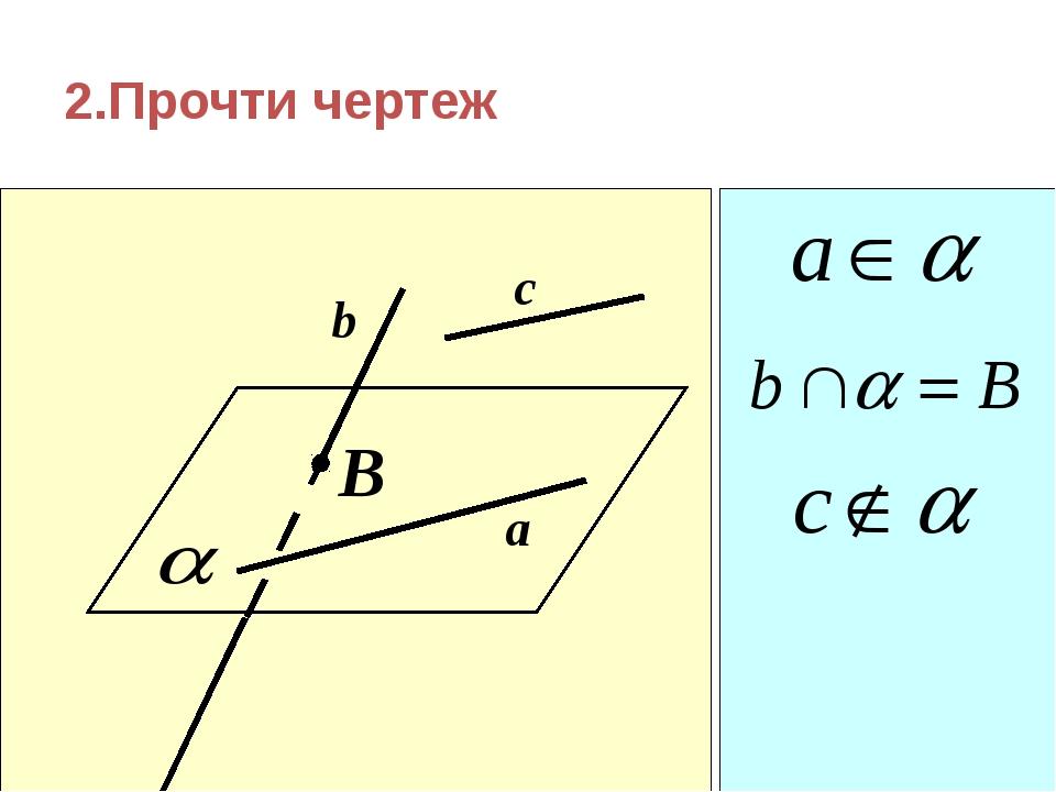 2.Прочти чертеж B c b a